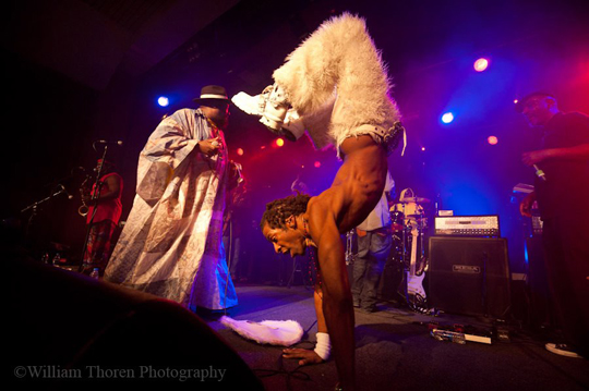 George Clinton on stage