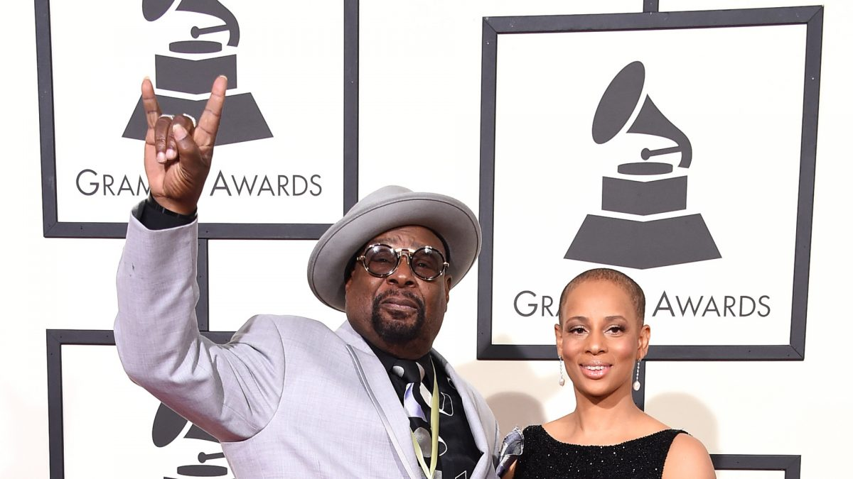 George Clinton and Wife Go To The Grammys